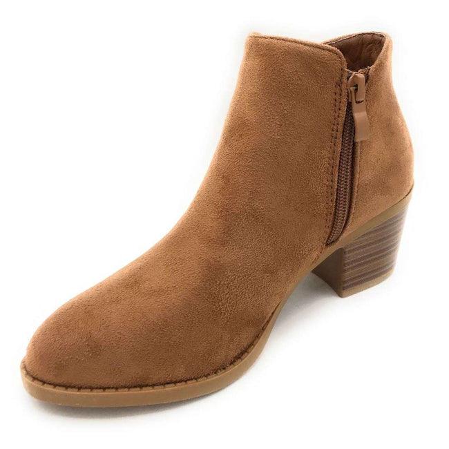 Top Moda Zandra-26 Chestnut Color Boots Shoes for Women