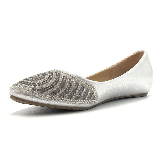 WK G-9 Silver Color Ballerina Shoes for Women