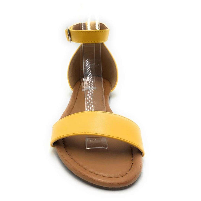 Weeboo Honey-12 Yellow Color Flat-Sandals Shoes for Women