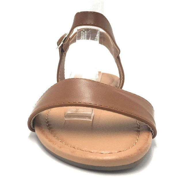 Weeboo Honey-13 Cognac Color Flat-Sandals Shoes for Women