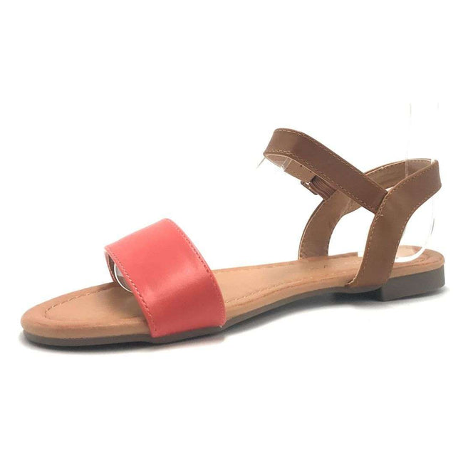 Weeboo Honey-13 Grapefruit Color Flat-Sandals Shoes for Women