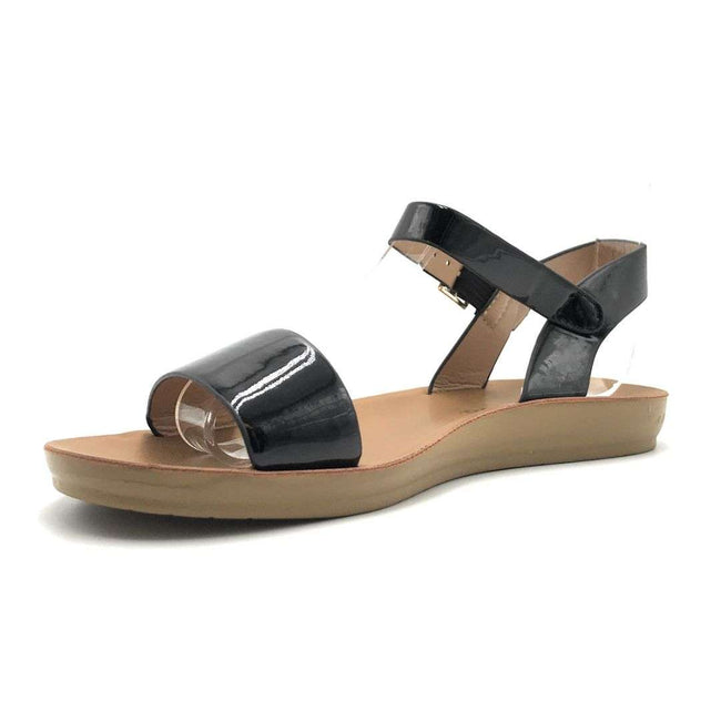 Weeboo Nora-28 Black Color Flat-Sandals Shoes for Women
