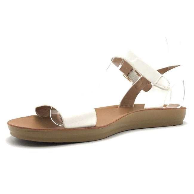 Weeboo Nora-28 White Color Flat-Sandals Shoes for Women