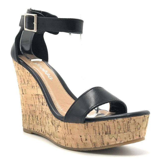 Weeboo Vivi-06 Black Color Wedge Shoes for Women