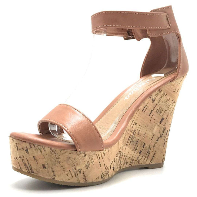 Weeboo Vivi-06 Cognac Color Wedge Shoes for Women