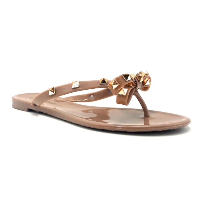 Wild Diva JoJo-01 Mocha Color Flat-Sandals Right Side View, Women Shoes