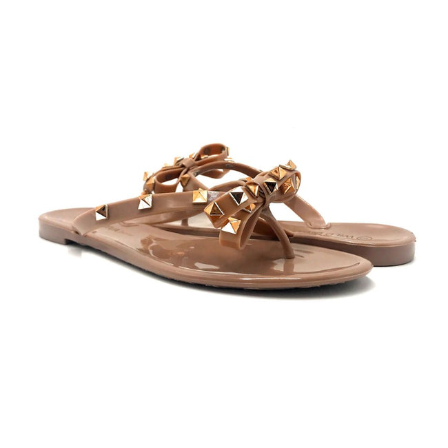 Wild Diva JoJo-01 Mocha Color Flat-Sandals Both Shoes together, Women Shoes