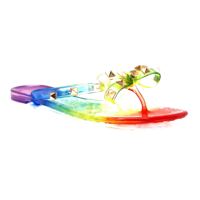 Wild Diva JoJo-01 Multi Color Flat-Sandals Right Side View, Women Shoes