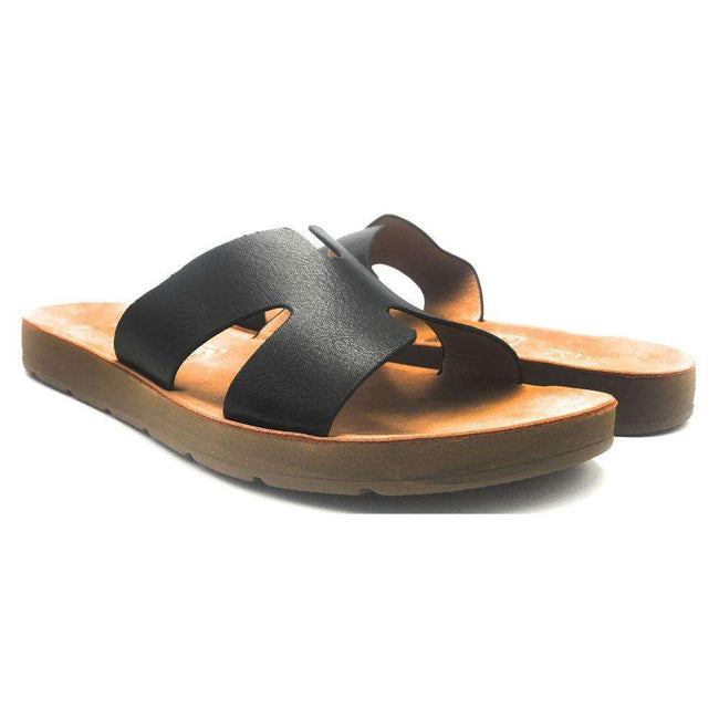 YOKI IRA-16 Black Color Flat-Sandals Shoes for Women