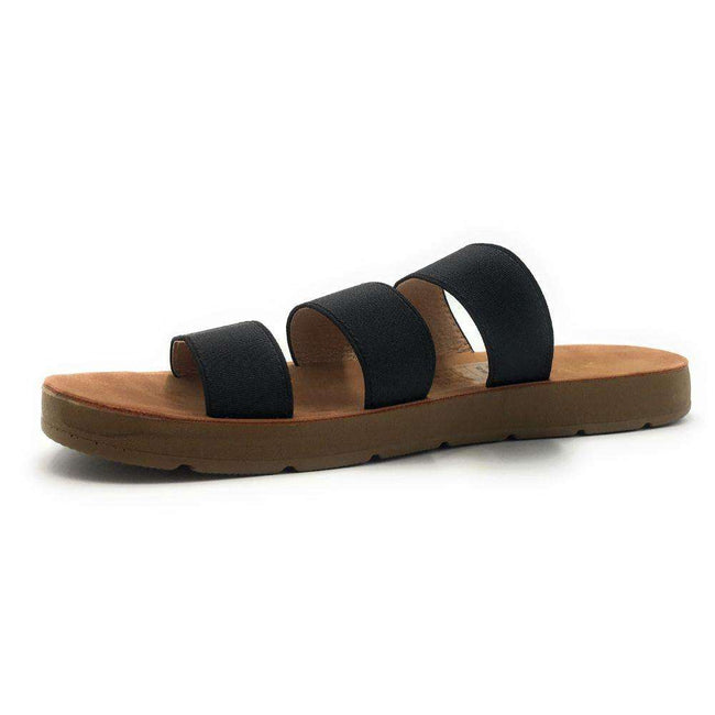 YOKI IRA-85 Black Color Flat-Sandals Shoes for Women