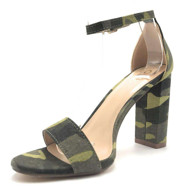 Yoki Carrason-05 Camouflage Color Heels Shoes for Women
