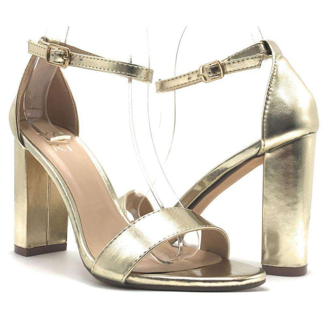 Yoki Carrason-05 Gold Color Heels Shoes for Women