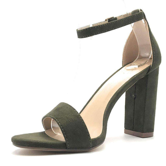 Yoki Carrason-05 Olive Color Heels Shoes for Women