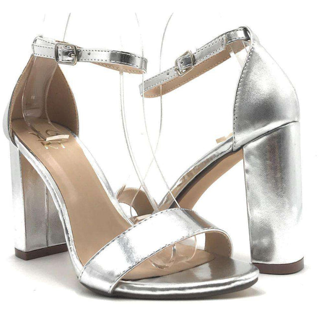 Yoki Carrason-05 Silver Color Heels Shoes for Women
