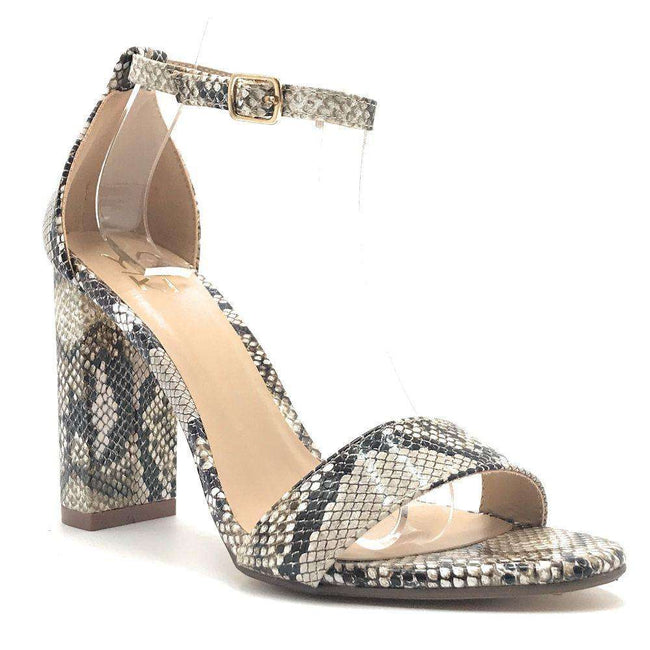 Yoki Carrason-05 Snake Color Heels Shoes for Women