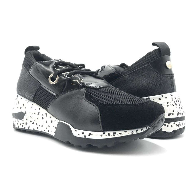 Yoki Clint-16 Black White Color Fashion Sneaker Shoes for Women