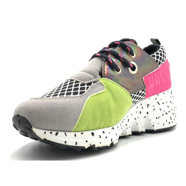 Yoki Clint-16 Multi Grey Color Fashion Sneaker Shoes for Women