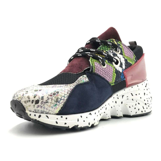 Yoki Clint-16 Multi Snake Color Fashion Sneaker Shoes for Women