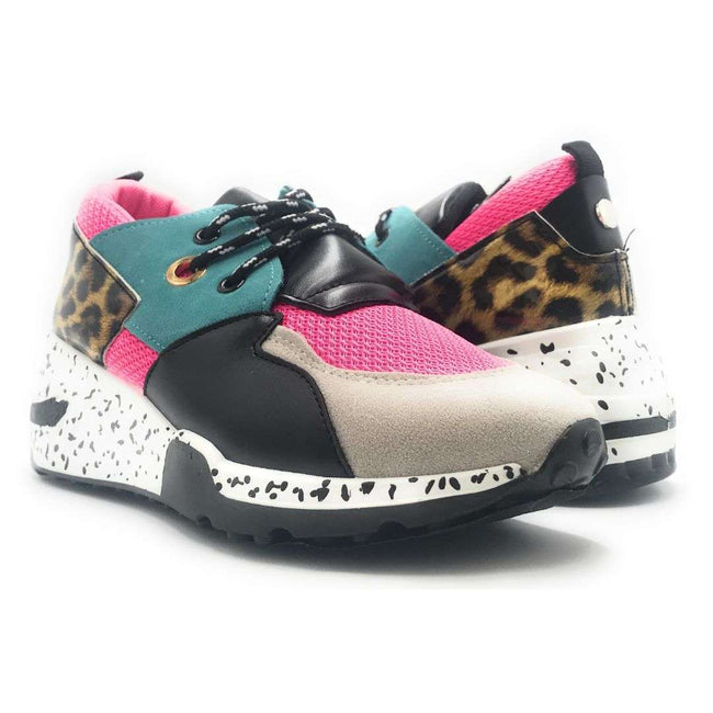 Yoki Galaxy-1 Pink Blue Color Fashion Sneaker Shoes for Women