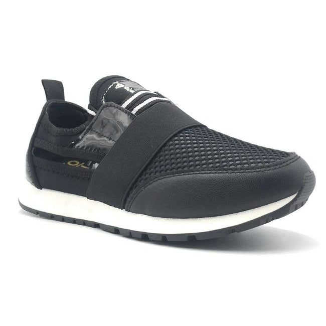 Yoki James-14 Black Color Fashion Sneaker Shoes for Women