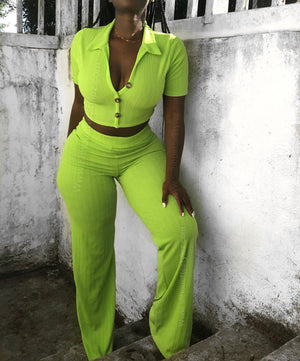 Key Lime Pant Set  SHIPS 7/2