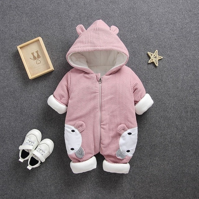 2019 Autumn Winter coat Jumpsuit Baby clothing Newborn Snowsuit Boy Warm Romper Down Cotton Jackets Girl Snow clothes Bodysuit