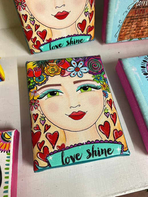 'Love Shine' Canvas Art Print