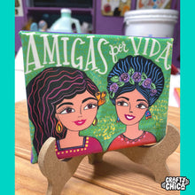 'Amigas Por Vida' Canvas Art Print