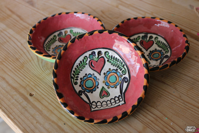 Sugar Skull Clay Ring Dish