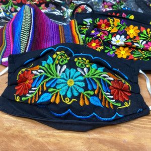 Mexican Embroidered Fabric Mask