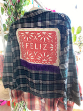 Upcycled Shirt: Feliz