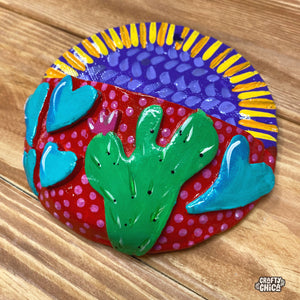 Pink Cactus Wall Pocket
