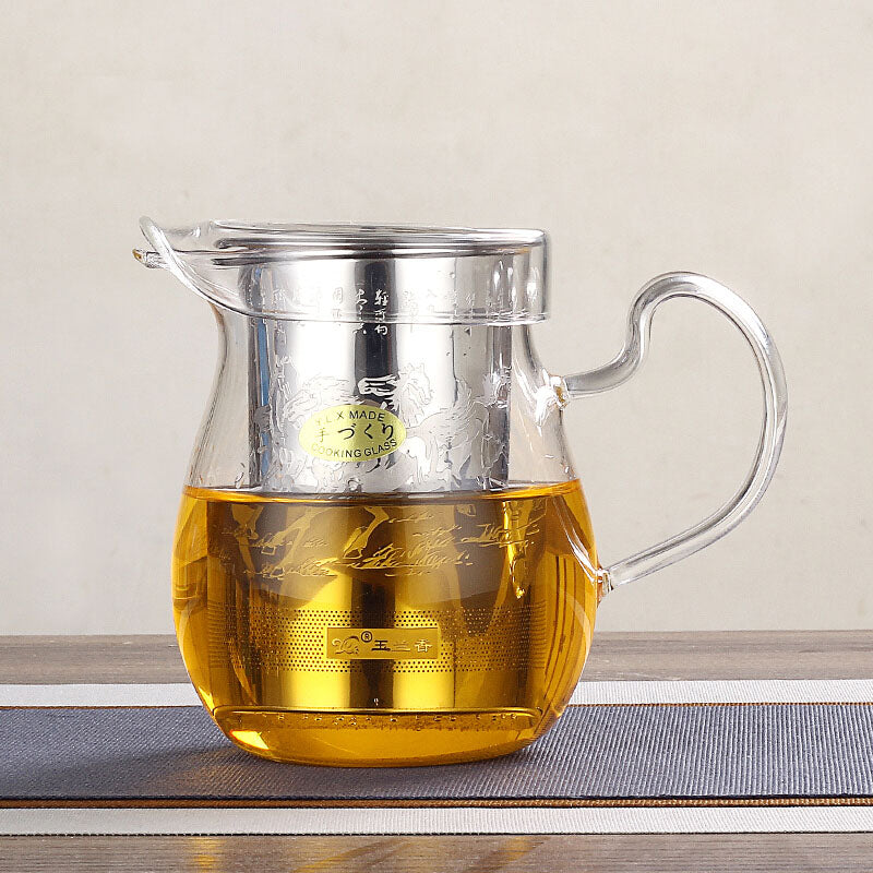 YLX P2-08 Multi Glass & Steel Tea Cup  (250ML)
