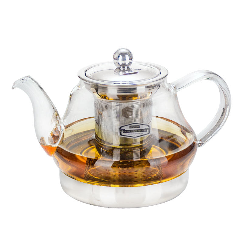 Borun Home boC-04 Glass Teapot Steel Pot Bottom (800ml)