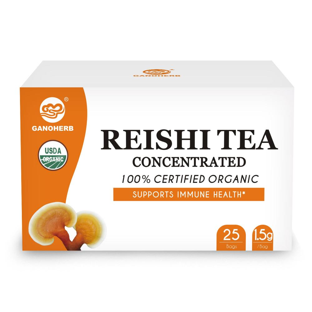 GANOHERB USDA Organic Reishi Mushroom Concentrated Tea