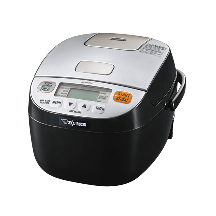 ZOJIRUSHI NL-BAC05 Micom Rice Cooker & Warmer, Silver Black (3 cups)