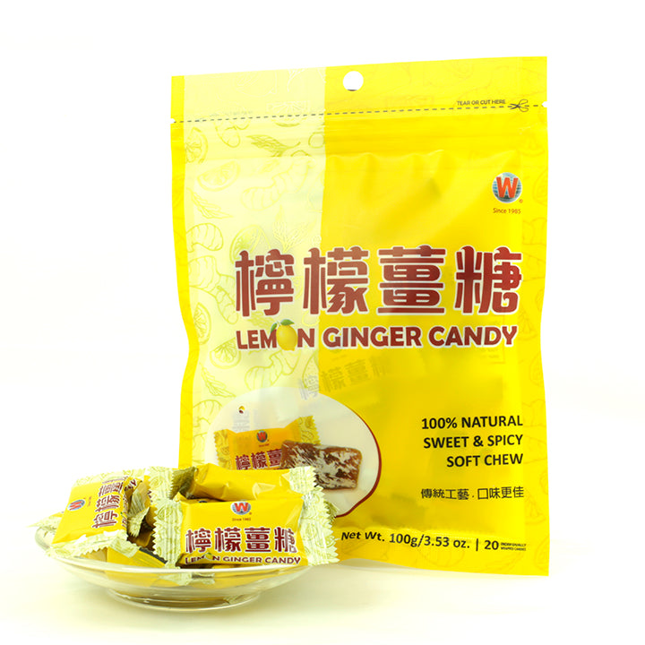 WHF Lemon Ginger Candy (20/Bag)