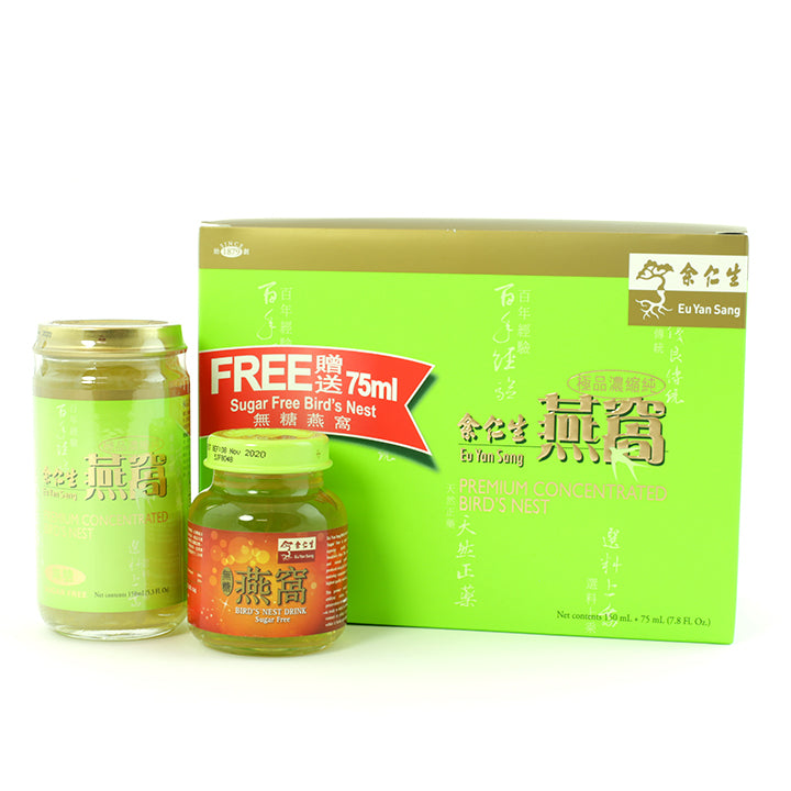 EYS Premium Concentrated Bird's Nest Sugar Free (150ml+75ml)