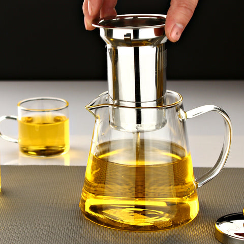 YLX P-021 Heatable Glass & Steel Teapot (750 ML)