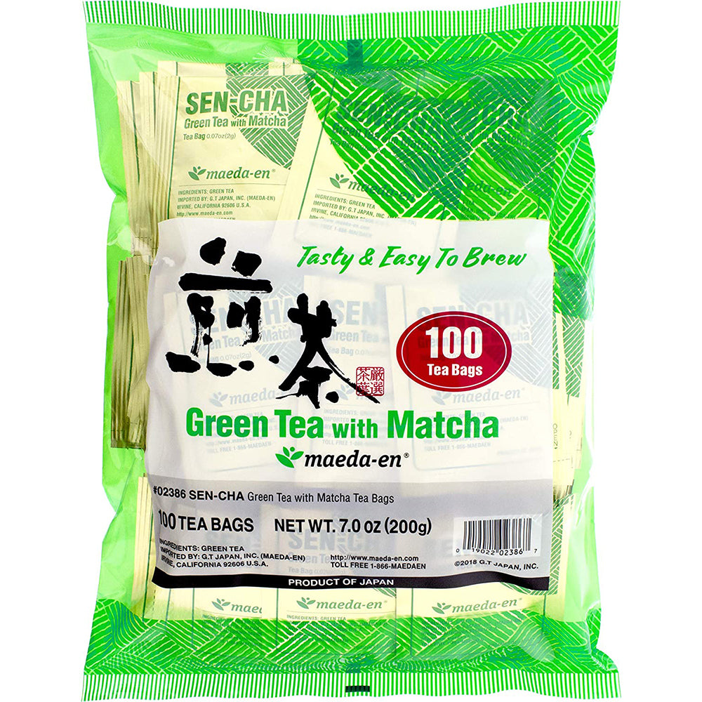Maeda Sen-cha Green Tea With Matcha Tea Bags (100 Count)