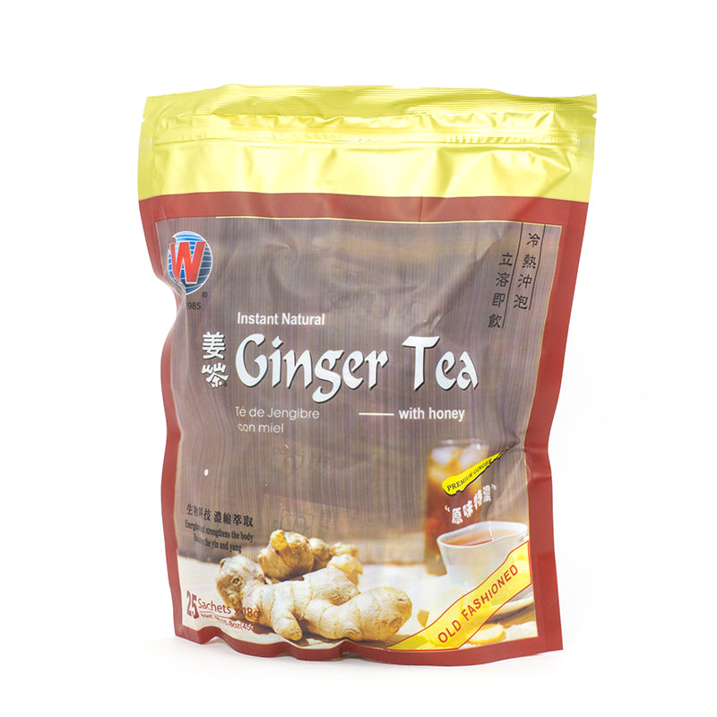 Instant Natural Ginger Tea with Honey (25 sachets)