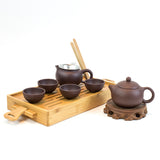 Yixing Hand Made Purple Clay (Zi Sha) Tea Set 8 Pieces
