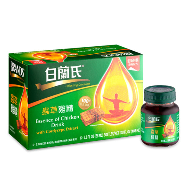 BRAND'S Essence of Chicken Drink with Cordyceps Extract(6*68ml)
