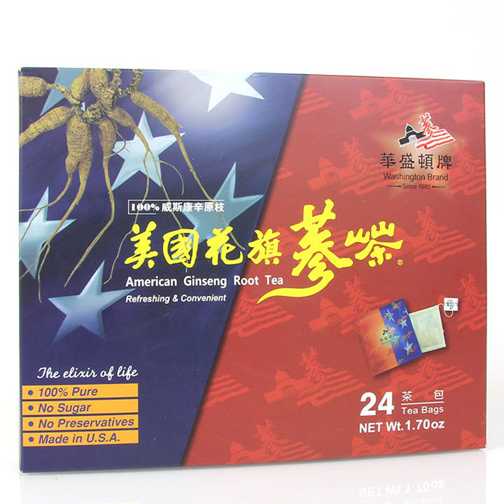 WHF Washington Brand American Ginseng Root Tea (24 Teabags)