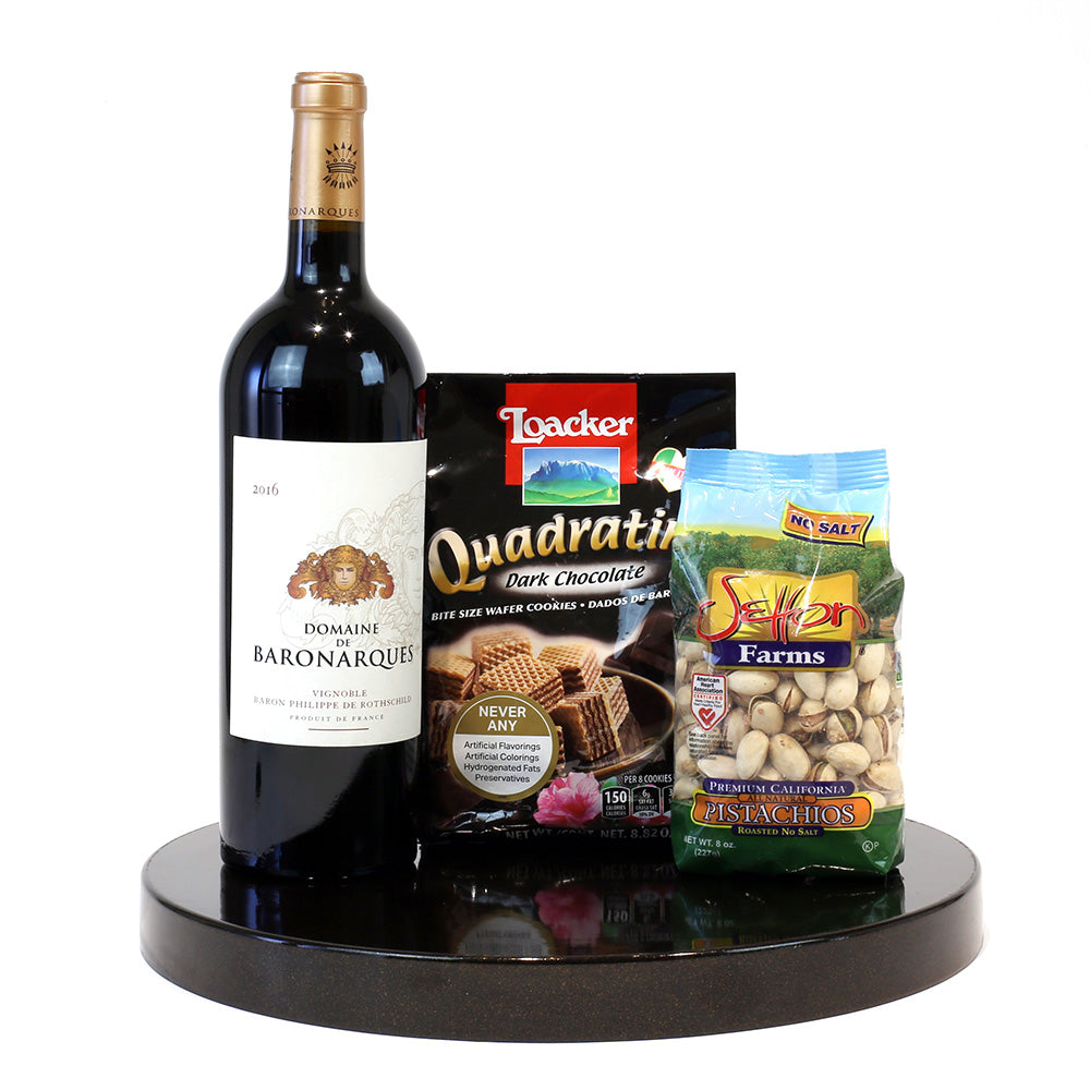 Red table wine gift