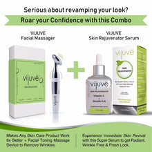 VIJUVE 45% Vitamin C Serum with Double Hyaluronic Acid and Collagen Peptides for Face, Eyes, Neck and Chest, All-in-One Skin Care Treatment, 1oz.