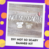Not So Scary DIY Banner Kit - You choose 2 character cutouts!