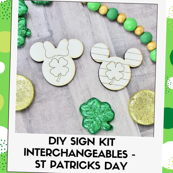 DIY Kit Interchangeable Wood Pieces - St Patrick's Day