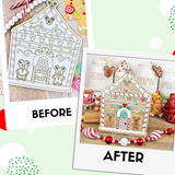 Gingerbread House Sign DIY Kit