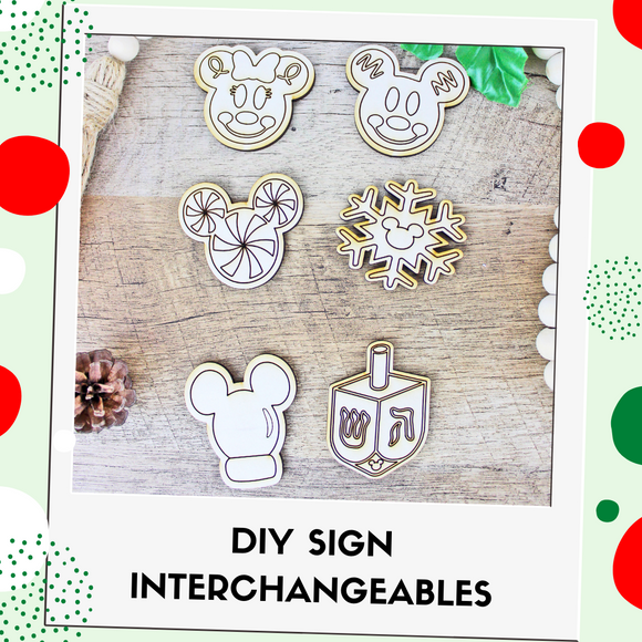DIY Kit Interchangeable Wood Pieces - Holiday Cheer
